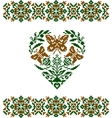 embroidered heart vector image vector image