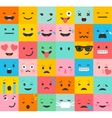 Set of colorful emoticons pattern vector image vector image