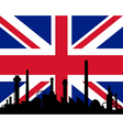 Industry and flag of Great Britain vector image