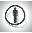 Curved man sign icon vector image