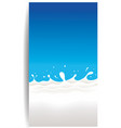 milk waves and splash blue background vector image