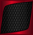 Red metal plate Black metal background vector image