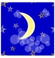 Stars and crescent seamless vector image
