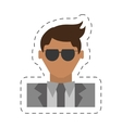 people fashionista man icon image vector image