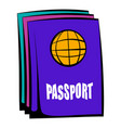 passport icon cartoon vector image