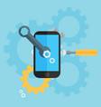 mobile repair and development vector image