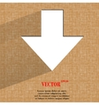 down Arrow Flat modern web design on a flat vector image