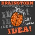Idea - Brainstorm Brain Grenade vector image