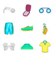 athlete icons set cartoon style vector image