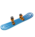 Blue snowboard on white background vector image
