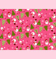 bright seamless winter pink pattern vector image