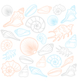 Colorful Seashells vector image