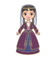 georgia historical clothes vector image