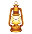 Old lantern vector image