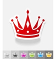 realistic design element crown vector image