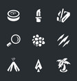 set of survival icons vector image