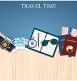 Travel and adventure template vector image
