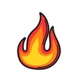 fire Icon on white background vector image vector image