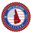 Label sticker cards of State New Hampshire USA vector image