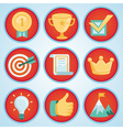 set with achievement and awards badges vector image