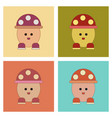 assembly flat icons kids toy mushroom vector image