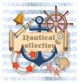 Nautical Collection 4 vector image vector image