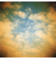 old sky background vector image vector image
