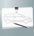Car sketch vector image