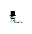 mustache guy theme vector image