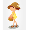 Basket girl vector image vector image