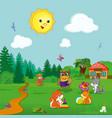 animals at kindergarten vector image
