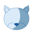 blue color shading silhouette faceless of cat vector image