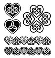 Celtic heart knot - symbols set vector image