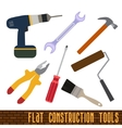 icons set of craft tools vector image