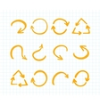 Orange Marker strokes set vector image