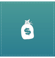 sack of dollars vector image