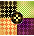 set of four retro seamless patterns vector image