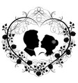 wedding silhouette 12 vector image