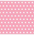 White polka dots on pink background vector image