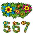 flowers alphabet 11 vector image