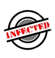 Infected rubber stamp vector image