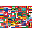 seamless flags background vector image