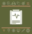 electrocardiogram symbol vector image