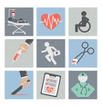 Flat Design Medical icons vector image