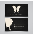 Business card template Butterfly logo vector image vector image