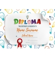 Diploma template for children vector image