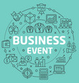 green line flat circle business event vector image
