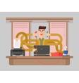 Man office worker multitasking vector image