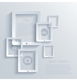 modern computer tablet background Eps 10 vector image