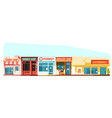 small town street cityscape flat style vector image